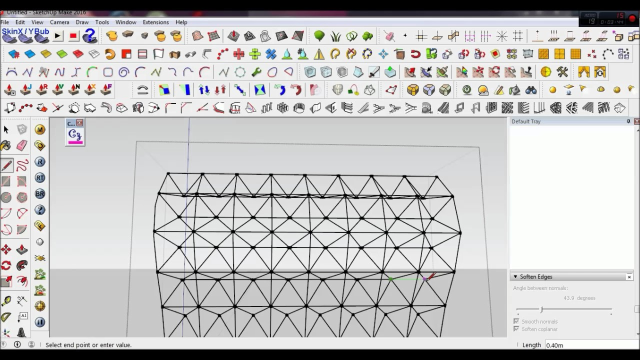 How to make space frame on sketchup Automatically - YouTube