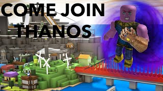 PLAYING ROBLOX COME JOIN THANOS!!!