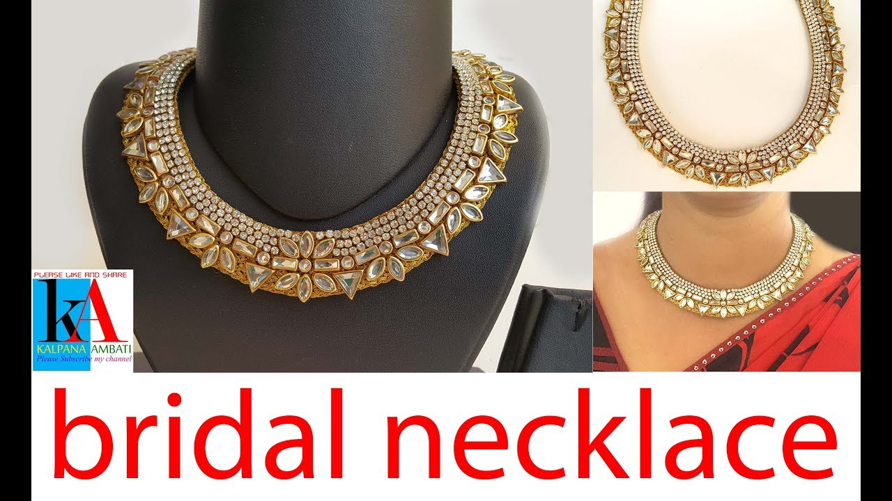 how to make kundan necklace at home