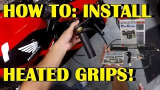 How to install heated grips on motorcycle (oxford grips) SUPER EASY!!!