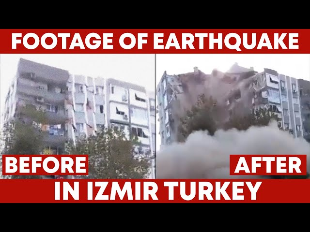 Footage Of Earthquake In Turkey