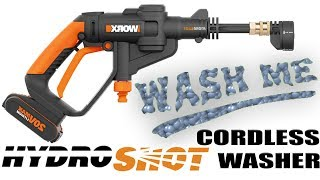 WORX HYDROSHOT - Cordless Water Cleaner - Camping Fishing Beach Pets Gardening - BEST REVIEW