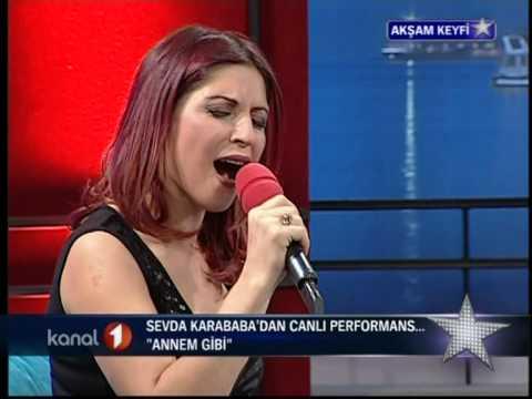 Sevda Karababa Annem Gibi (canlı performans) 2.Mart.2009-KANAL 1