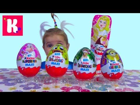Киндер сюрприз Макси  Обзор игрушек