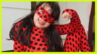 Rüya Mucize Uğur Böceği Oldu | Rüya Pretend Play Being Miracle Ladybug with Magic - Funny Kids Video