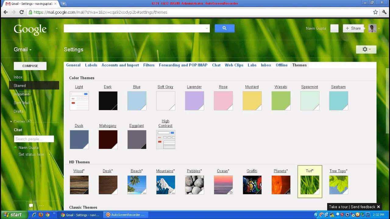 How to download themes for gmail account