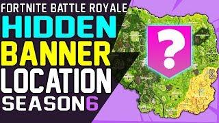 Fortnite SECRET BANNER LOCATION WEEK 4 Season 6 Hunting Party Challenge Battle Star