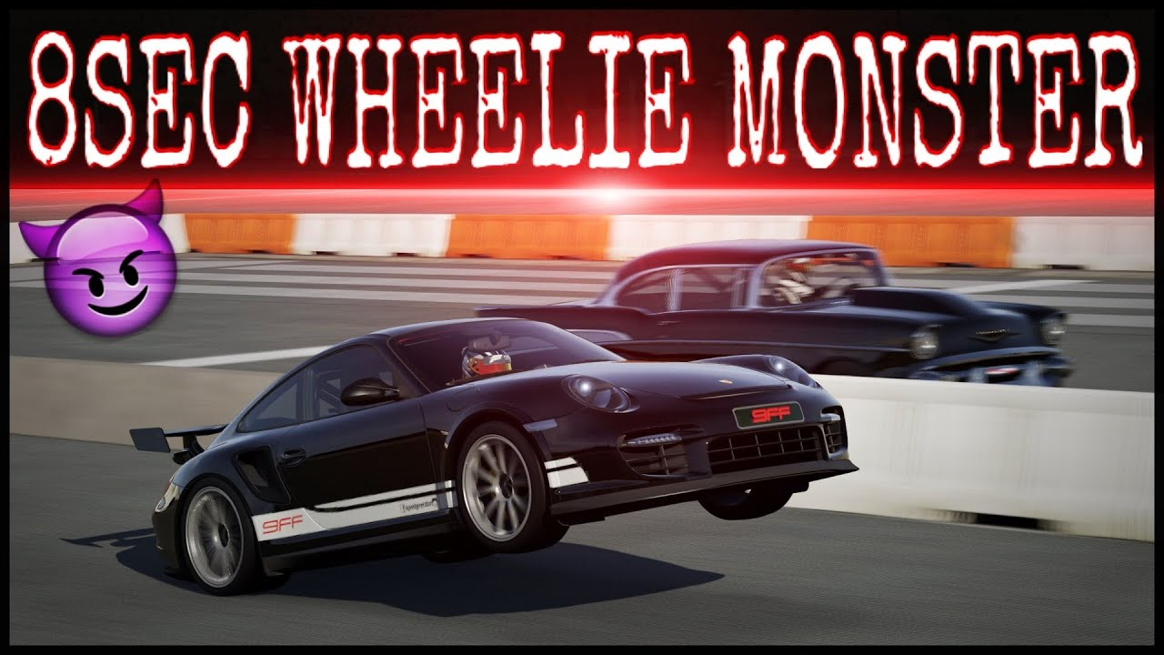 930hp porsche gt2 rs wheelie drag build build tune testdrive forza 6 youtube