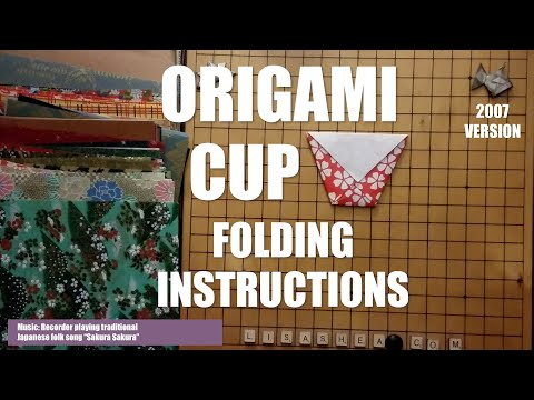 Origami Drinking Cup Folding Instructions - YouTube - photo#30