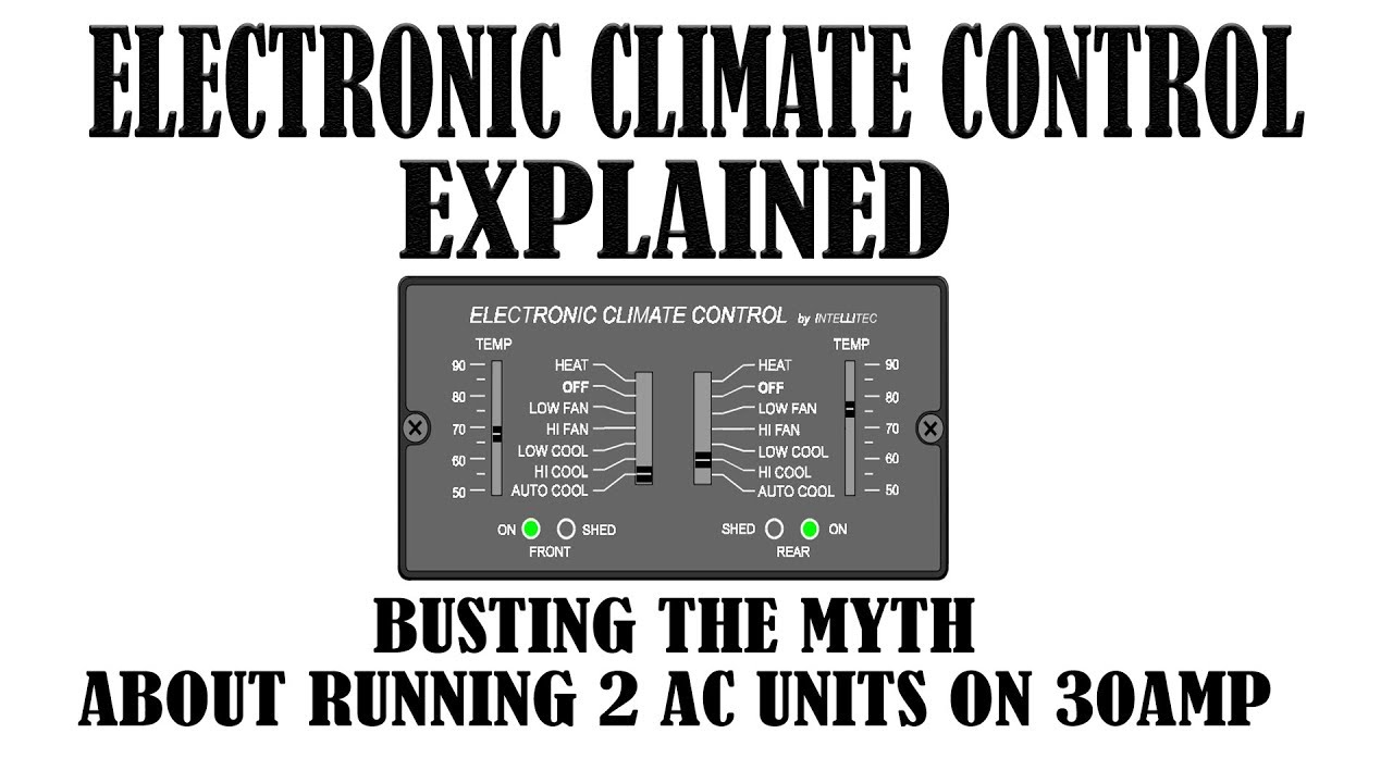 run 2 acs on 30a with rv intellitec electronic climate control [ 1280 x 720 Pixel ]