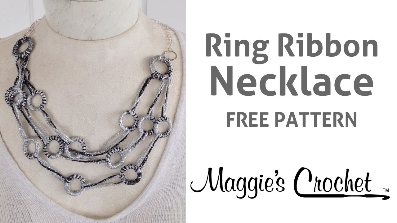 Spangle ring ribbon necklace free pattern no knit no crochet spangle ring ribbon necklace free pattern no knit no crochet right handed bankloansurffo Images