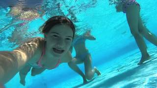 GoProCam: Drowning in swimming pool.