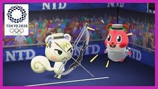 [모동숲 올림픽]  모동숲으로 재현한 도쿄올림픽 양궁 …