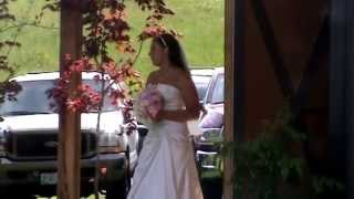 Bride Surprises Groom Singing Down the Aisle!