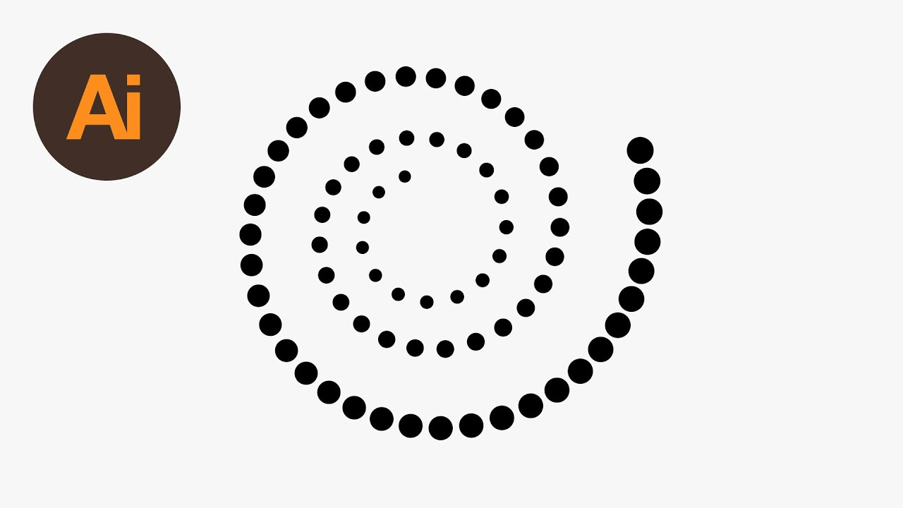 How to Create a Dotted Spiral in Illustrator