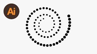 Illustrator Noktalı bir Spiral Oluşturmak için nasıl
