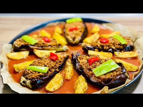 aubergine-farcie-à-la-viande-hachée--recette-saine-sans-friture
