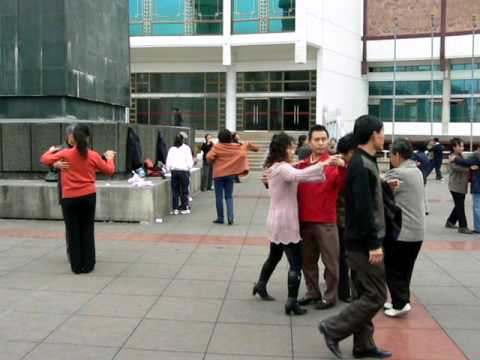 Guiyang - Ballroom Dancing Under Mao's Statue