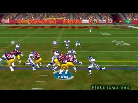 31 Yard TD Run On 4th Down by Clinton Portis! New York Giants vs Washington Redskins - HD