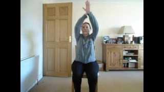 Zumba 5 min chair workout #1