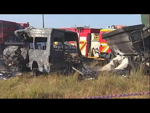 South Africa: 20 children killed in bus crash near Pretoria