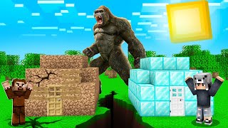 DEV KİNG KONG VS EV! 🐵 - Minecraft
