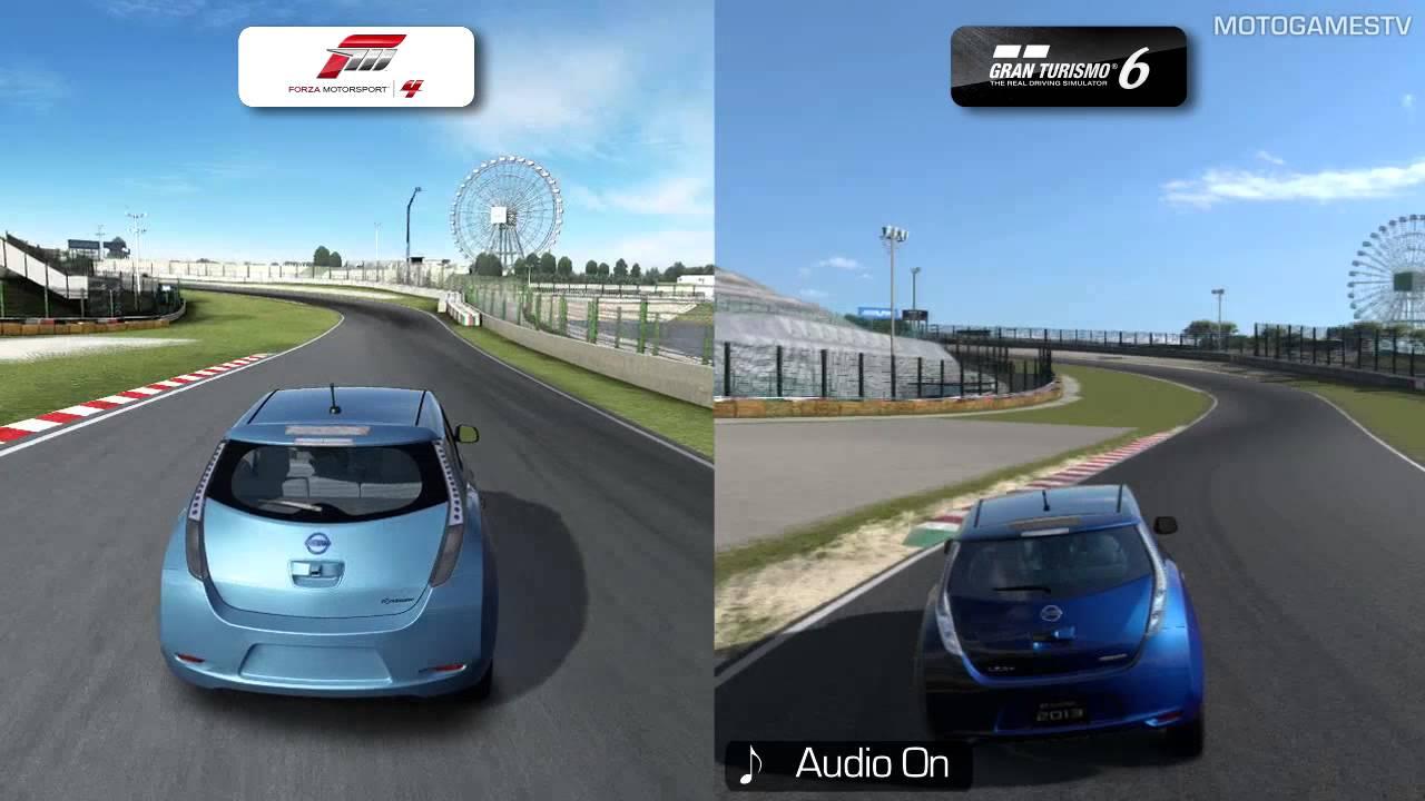Forza Motorsport 4 Vs Gran Turismo 6 Demo