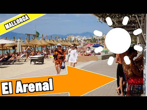El Arenal Majorca Spain:  Tour Of Beach And Resort