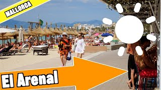 El Arenal Mallorca Spain:  Tour of beach and resort