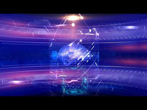 artificial intelligence stock video footage   AI Technology background video loop   Futuristic mind