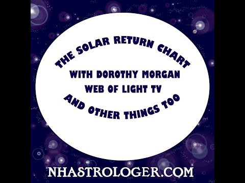 How to read the  Solar Return Chart and other things Web of Light TV