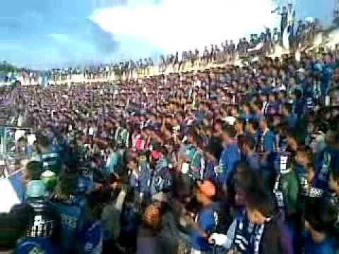 AKSI KOREO PANSER BIRU  PSIS VS PERSIPUR  15 April 2014 Jatidiri stadium Indonesia