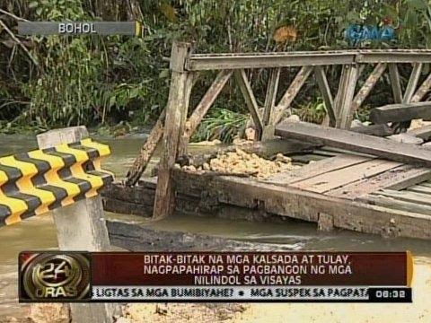 24 Oras: Mga landslide dulot ng lindol, ininspeksyon ng mga taga-DENR at U.P. NIGS