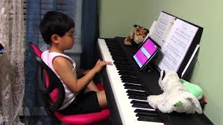 """5-year-old Renzo Plays """"Eye of the Tiger"""" on the Piano using Simply Piano by JoyTunes"""