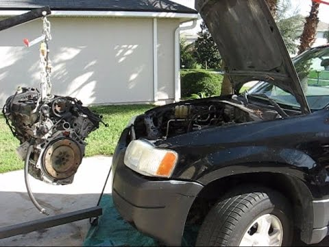 Taurus Engine Swap into a Ford Escape Part 1- removal and