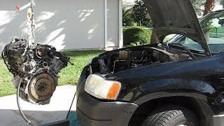 Taurus Engine Swap into a Ford Escape Part 1- removal and dissasembly Mp3