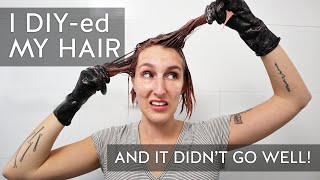 I DIY-ed my balayage + hair color and I DO NOT recommend it 🚫 Hairdresser Color Fail!