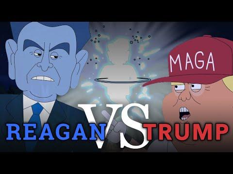 Reagan vs Trump Debate | Cartoon Rap Battle