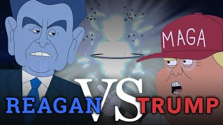 Reagan vs Trump Debate | Cartoon Rap Battle