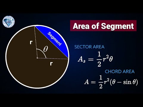 General Formula for Area of Segment in a Circle