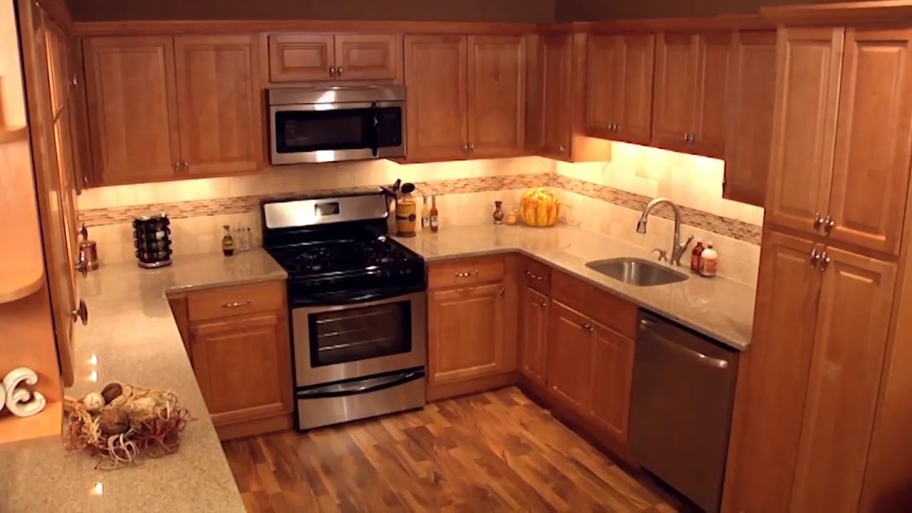 Park Avenue - Honey Maple - Kitchen Cabinets - YouTube on Maple Cabinets Kitchen  id=23176
