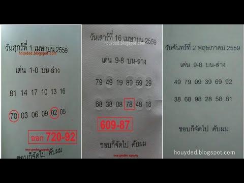 เลขเด็ด 2ตัวบนล่าง งวดวันที่ 2/05/59 (เข้า 2งวดติดต่อกัน)