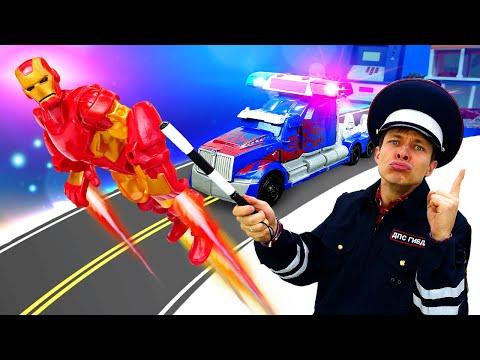 Игры Трансформеры и супергерои – Железный Человек против Фёдора! – Видео шоу Автомастерская.