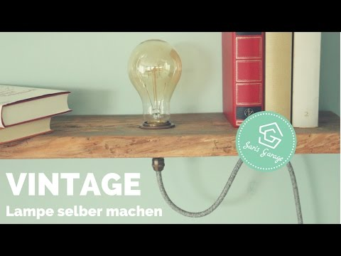 Vintage Lampe selber bauen | Regal selber bauen | Vintage Regal | Lampe | Upcycling | HOW TO | DIY