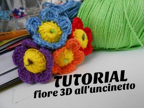 Tutorial Segnalibro Fiore 3d By Creazioni Alluncinetto Youtube