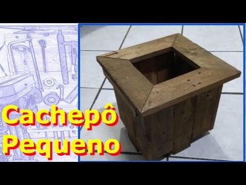 ✅ Como Fazer Cachepô Pequeno De Palete #CachepotDePalete #CoisasDoMeyer
