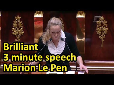 Marion Maréchal Le Pen Explains Why Feminists Are Hypocrites In Brilliant 3 Mn Speech (English Subs)