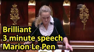 Video Marion Maréchal Le Pen explains why feminists are hypocrites in brilliant 3 min speech(English subs) download MP3, 3GP, MP4, WEBM, AVI, FLV September 2017