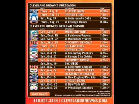 Cleveland Browns 2013-2014 Schedule - YouTube