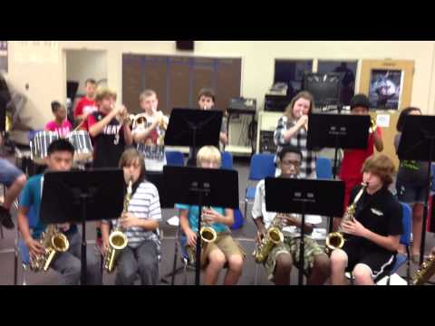 The Greenwood Lakes Middle School Jazz-Rock Ensemble